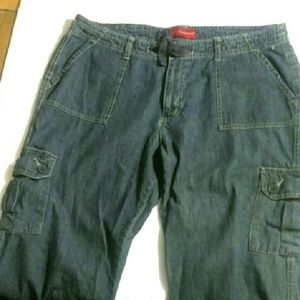 b.u.m. equipment Jeans - b.u.m. equipment, Sz.14, cropped, cargo jeans